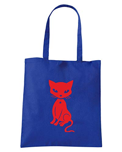 Borsa Royal FUN0957 Blu DECAL Shopper CAT r1wx0rq