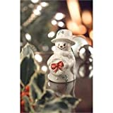 BELLEEK SNOWMAN WITH BOW