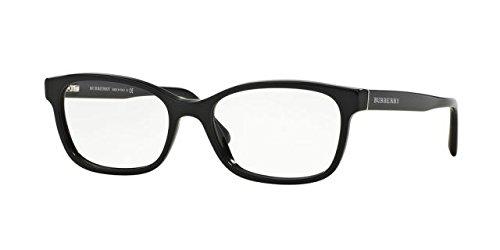 Burberry Women's Optical Frame Acetate Black Frame/Transparent Lens Non-Polarized Glasses 52 - Burberry Glasses Price