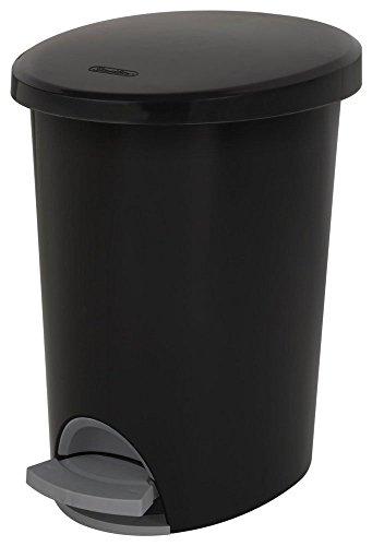 (STERILITE Corp 10819002 Waste Basket Step On Black 2.6 G, 2)