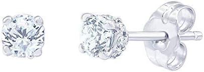 Helzberg Diamonds 14K White Gold 1 cttw Lab-Grown Diamond Stud Earrings