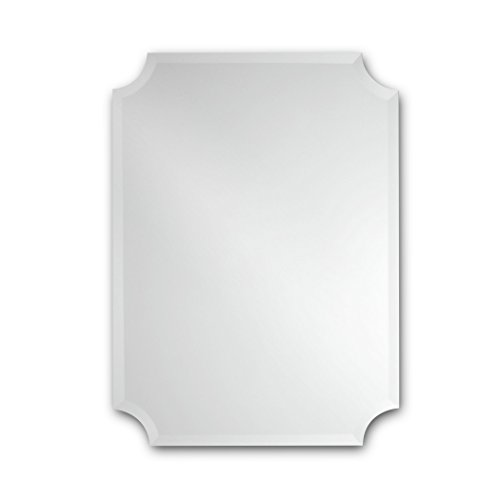 - The Better Bevel Frameless Rectangle Wall Mirror | Bathroom, Vanity, Bedroom Rectangular Mirror | Scalloped Corners (24