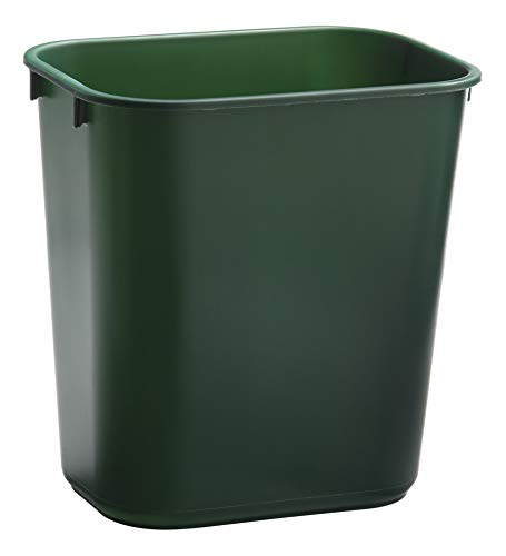 Rubbermaid Commercial Products 1829412 Wastebasket (14-Quart/13-Liter, Small, Green) (Rubbermaid Plastic Wastebasket)