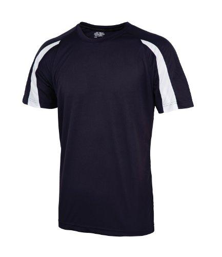 Awdis Performance Herren Kontrast T-Shirt Gr. XX-Large, Blau - French Navy / Arctic Whit