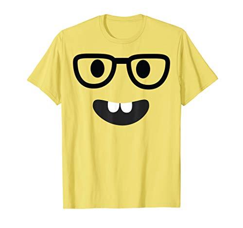 Nerd Face Emoji Easy Lazy Group Halloween Costume T-Shirt