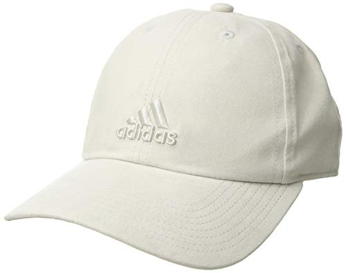 adidas Women's Saturday Plus Relaxed Adjustable Cap, clear/brown, One - Beige Logo Baseball