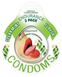 Endurance Spearmint Flavored Condoms - 3 ()