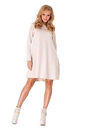 351ab67a115 Futuro Fashion Femmes Cocktail robe trapèze Avec Fermeture Éclair Manches  Longues FA323