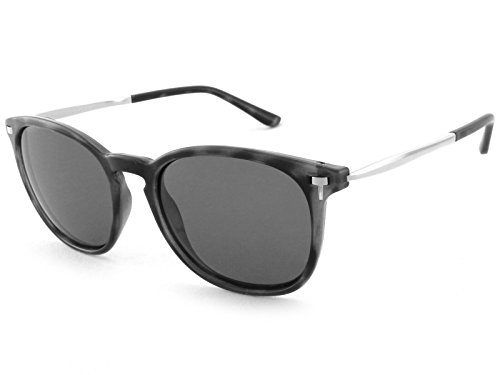 Pepper's Women's Nolita Polarized Oval Sunglasses, Matte Grey Tortoise, 53 mm