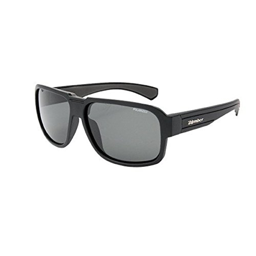 Bomber Sunglasses - Franco Bomb: Matte Black Frame/Smoke Polarized Lens/Grey - Sunglasses Franco