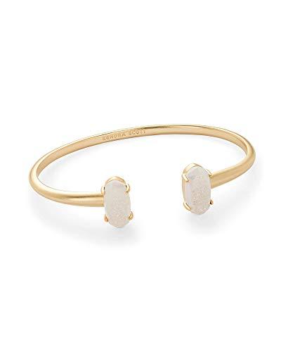Kendra Scott Edie Cuff Bangle Bracelet in Iridescent Drusy & Gold