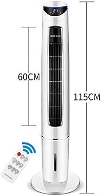 Ventilador electrico Ventilador de Piso con Control Remoto, Enfriador de Aire, deshumidificador, Ventilador purificador de Aire y Modo de Reposo, Ventilador de Torre, Pantalla LED, 6 velocidades de: Amazon.es: Hogar