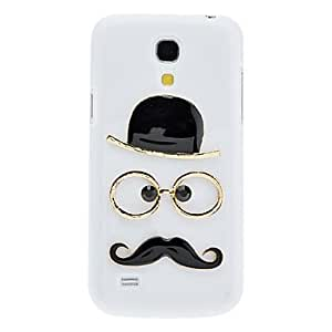Hat?Beard And Glasses Pattern In White Background Hard Case for Samsung Galaxy S4 Mini I9190