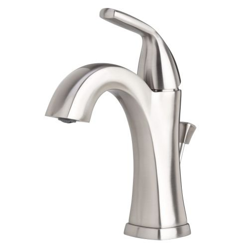 Miseno ML611 Elysa-V Single Hole Bathroom Faucet - Includes Pop-Up Drain Assembly, Brushed Nickel (Miseno Faucet)