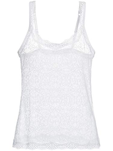 Camisete Loungerie Sem Manga Renda Love Lace Branco