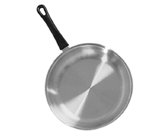 Tuxton Home Nevada 10 Inch Open Frypan; Stainless Steel, PFTE & PFOA Free, Freezer to Oven Safe, Induction Compatible