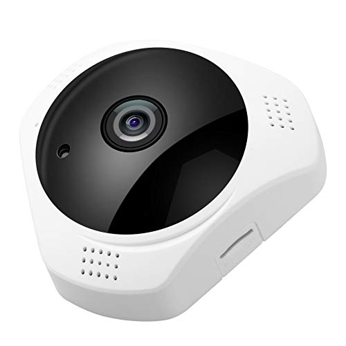 Fisheye Wireless IP Camera,3 Megapixel 1536P Baby/Pet Monitor 360 Degree WiFi HD Surveillance Camera,Cloud Storage Motion Detection Two-Way Audio Night Vision,Indoor/Outdoor Panoramic Security System by Anweer
