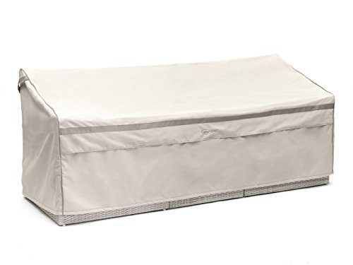 CoverMates – Outdoor Patio Sofa Cover – 82W x 40D x 40H – Prestige Collection – 7 YR Warranty – Year Around Protection - Stone by CoverMates