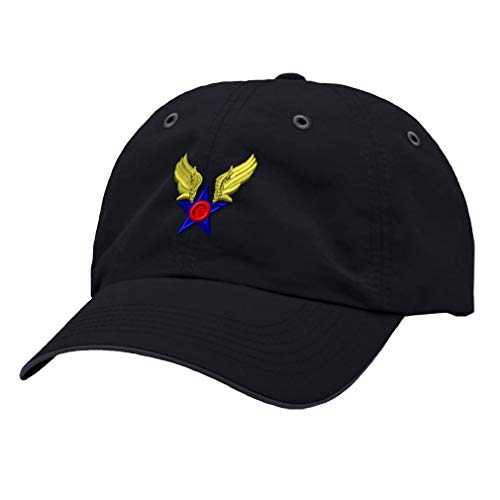 Speedy Pros Richardson Running Cap Army Air Corps Embroidery Veteran Name Polyester Hat Hook & Loop - Navy/Charcoal, Design Only
