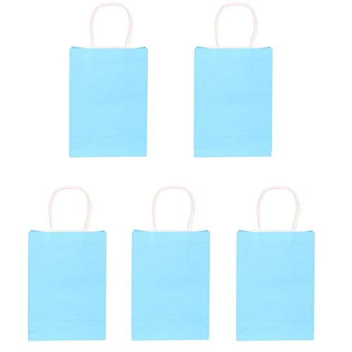 Gift Bags & Wrapping Supplies - 5pcs Set Multicolor Recyclable Kraft Paper Gift Handbag Bakery Birthday Party Package Bags - Candy Bags Bag Paper Supplies Bag Kraft Black Paper Bag -