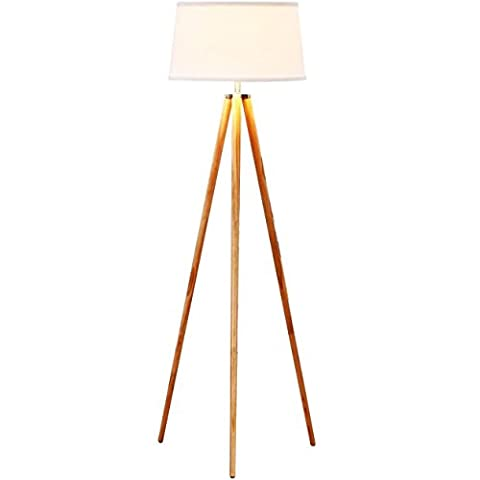 Brightech - Emma Tripod Floor Lamp - Classic Design for Contemporary or Traditional Living Rooms - Soft Ambient Lighting - White - Hubbardton Forge Bronze Floor Lamp