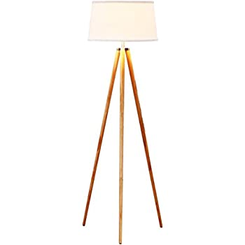 Brightech - Emma LED Tripod Floor Lamp - Classic Design for Contemporary or Traditional Living Rooms - Soft Ambient Lighting - Beige Shade