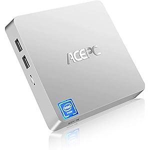 ACEPC T11 Fanless Mini PC, Windows 10 Pro Mini Computer, 4GB DDR3/64GB eMMC, Support 2.5-Inch SATA III Internal SSD/HDD…