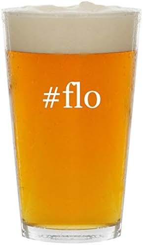 #flo - Glass Hashtag 16oz Beer Pint