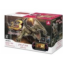 Monster Hunter Portable 3rd PSP Special Console - Black/Red (PSP-3000 Bundle)