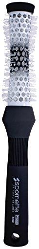 Spornette Pronto 1 ½ Inch Round Brush Ceramic Hourglass Aerated Barrel & Crimped Tourmaline Ion Nylon Bristles (#360)