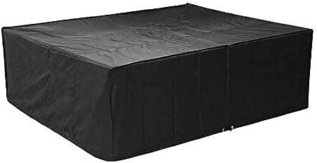 MVPOWER Funda Impermeable para Muebles 250x 200x 80cm, Cubierta Protectora para Muebles Sillas Sofás Mesas Cubierta de Exterior, Color Negro
