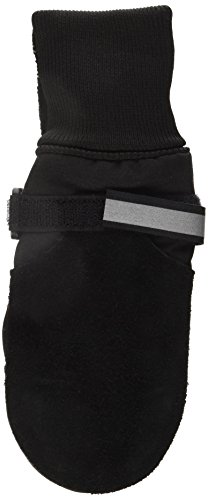 Muttluks Fleece Lined Muttluks Dog Boots - Set of 4, Large (3.75 to 4.25 inch), Black