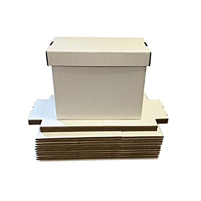 (6) SHORT White Comic Storage Boxes - Holds 150 - 175 Comic Books: Toys & Games
