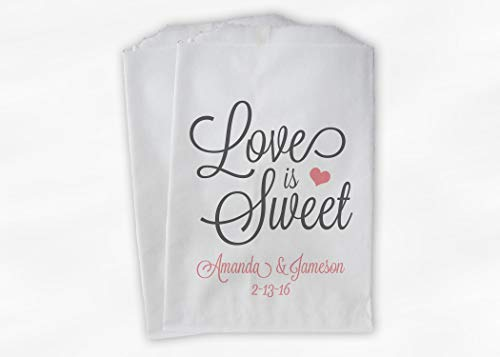Cool Personalized Candy Buffet Bags Love Is Sweet Thank You Home Interior And Landscaping Palasignezvosmurscom