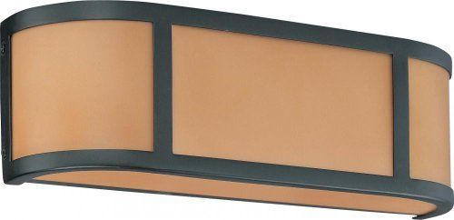 Nuvo 60/2872 Two Light Wall with Parchment Glass, Aged Bronze
