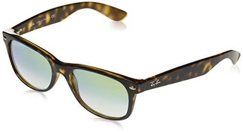 Ray-Ban RB2132 New Wayfarer Sunglasses, Tortoise/Gold Gradient, 55 ()