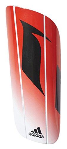 Adidasパフォーマンスメッシ大人用10 Lesto Shin Guard B01GK9HFESホワイト/レッド/ブラック Small