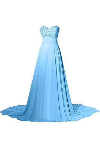 Ivydressing - Vestido - trapecio - para mujer azul claro