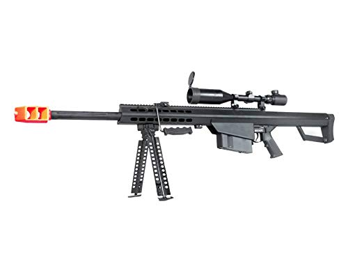 MetalTac Snow Wolf Airsoft Sniper Rifle SW99-02B Short Version AEG M99 with 3-9x50 Scope & Bipod