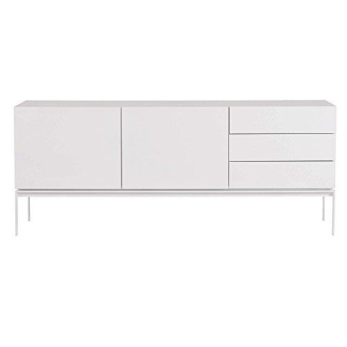 Temahome Glare Sideboard with Legs, High Gloss White with Lacquered White