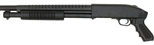 Pack complet Airsoft M500 Court/Fusil à Pompe à Ressort/métal-ABS/Rechargement Manuel (0.5 Joule)-Livré avec Accessoires 2