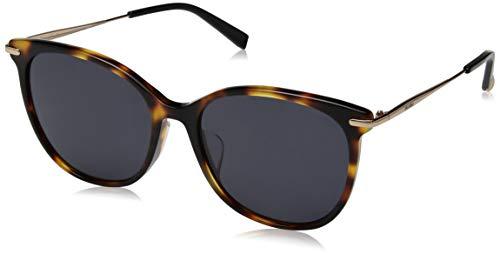 Max Mara Women's Mmneedleixfs Polarized Round Sunglasses, DKHAVANA, 57 ()