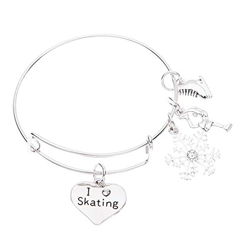 Infinity Collection Figure Skating Bracelet for Women- Figure Skating Jewelry -Ice Skating Jewelry - Ice Skate Charm Bracelet - Perfect Figure Skating Gifts