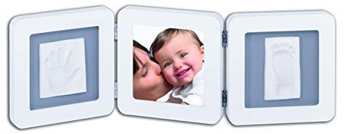 Baby Art 34120052 - Double Print Frame - Bilderrahmen für Foto und Hand- & Fußabdruck, White & Black