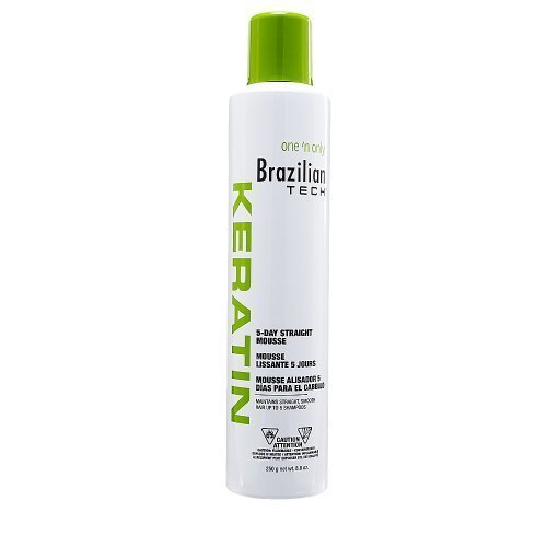 one 'n only Brazilian Tech Keratin 5-day Straight Mousse, 8 Ounce