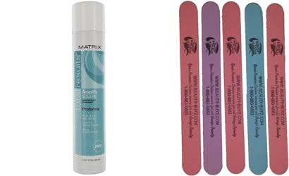 Amplify By Matrix Hair Spray - Total Results Amplify Proforma Firm Hold Hair Spray Plus Bonus 5 Emery Boards