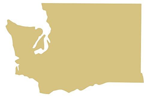Washington Cut Out Unfinished Wood Shape Variety Sizes USA Made (12) - Washington Cut Out