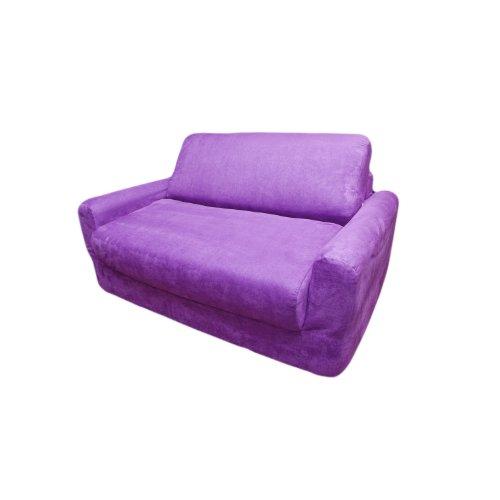 - Fun Furnishings Sofa Sleeper, Purple Micro Suede