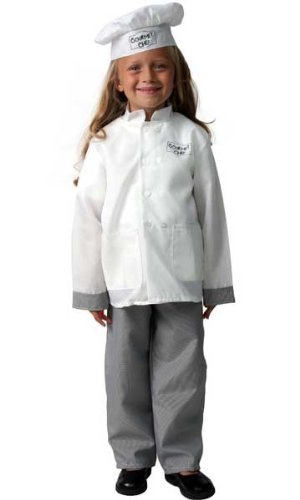 [Gourmet Chef Costume Jacket & Hat 6/8] (Chef Costumes For Kids)