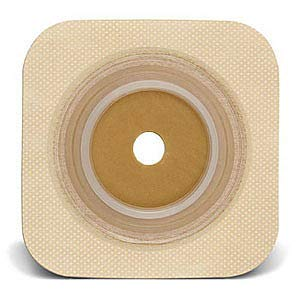 Sur-fit Natura Stomahesive Cut-to-fit Flexible Wafer 5'' x 5'' Flange 2-1/4'' Tan (Box of 10)